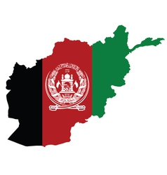Afghanistan Map Flag vector image vector image