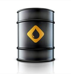 Metal oil barrel vector