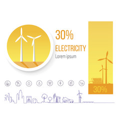 postered dedicated to save sources of energy vector image
