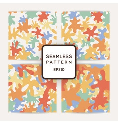 Seamless pattern of colored smooth blots and spots vector image