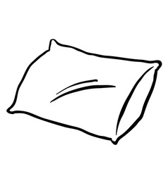 black and white pillow vector image