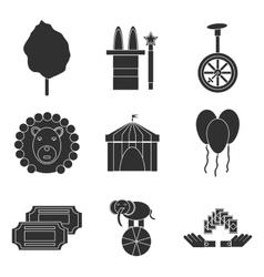 Circus icons flat set vector image vector image