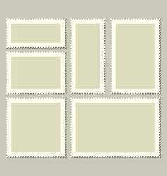 creative of blank postage vector image