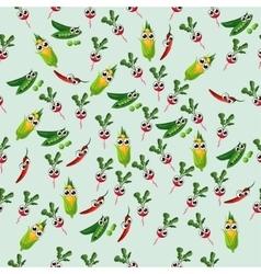 grean peas pod vector image