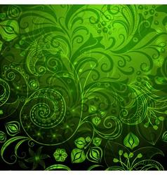 green vivid floral pattern vector image vector image