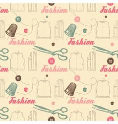 Vintage Fashion Pattern Background vector image