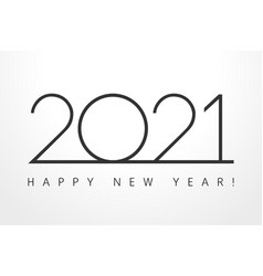 2021 new year black simple thin vector