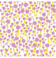 abstract pink yellow dot forest seamless pattern vector image