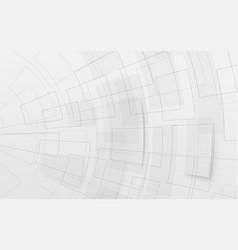 abstract white geometric futuristic digital vector image