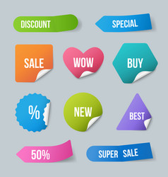 advertizing stickers sale promo labels for new vector image