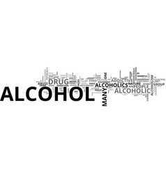alcohol is there a comparison with hard drugs vector image