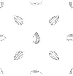 almond nut pattern seamless vector image