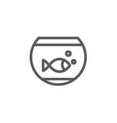 Aquarium line icon on white background vector