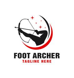 archer logo using feet vector image