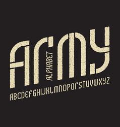 army white on black alphabet gaming stylized vector image