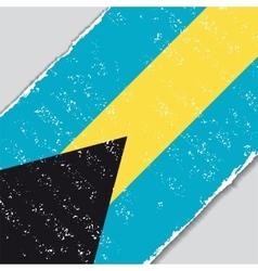 Bahamas grunge flag vector