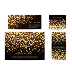 banners of different sizes with confetti stars vector image