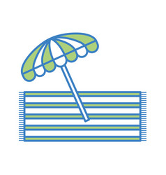 Beach umbrella summer with towell vector