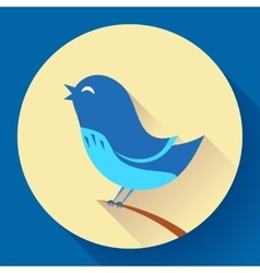 Bird singing icon Flat design style vector image vector image