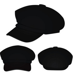 black stylish cap vector image
