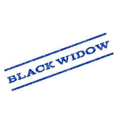 Black Widow Watermark Stamp vector