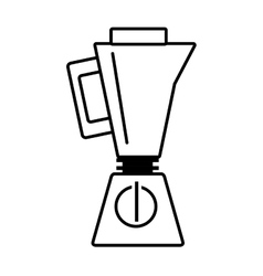 blender kitchen appliance outline vector image