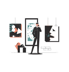 businessman in office workplace talking on phone vector image