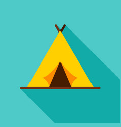 camping tent object icon vector image