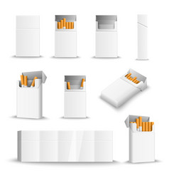 cigarette blank packs realistic vector image