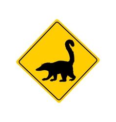 Coati warning sign vector