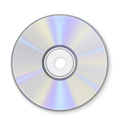 Compact disc information storage realistic vector