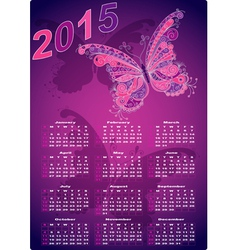 Dark violet pocket calendars for 2015 vector image