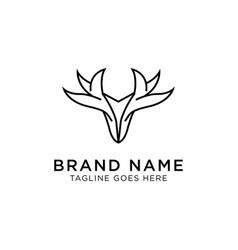 deer logo design inspiration vector image