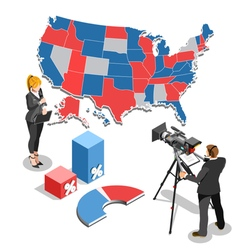 Election News Infographic Parliament Isometric vector