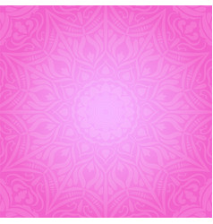 ethnic decorative round element pink soft vector image