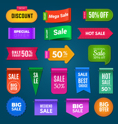 fabric promo banners big sale badges vector image