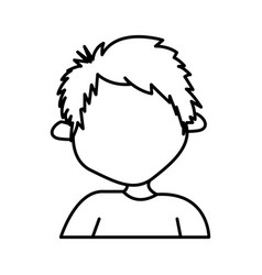 figure sticker boy icon vector image
