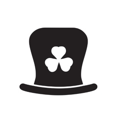 Flat icon in black and white Irish hat vector