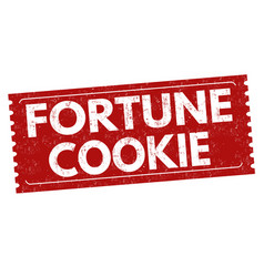fortune cookie sign or stamp vector image