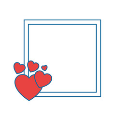 Frame with hearts icon vector