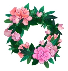 Gentle azalea wreath vector image