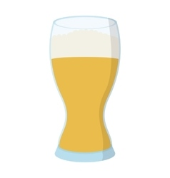Glass beer cartoon icon vector