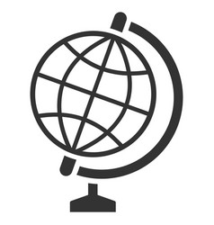 Global flat icon vector