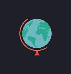 Globe computer symbol vector