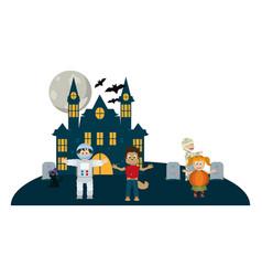 Halloween and kids vector