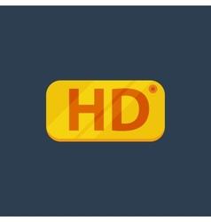 HD Flat icon vector image