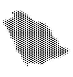 Hexagonal saudi arabia map vector
