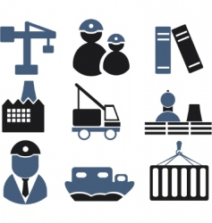 industry signs vector image