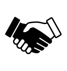 interracial handshake or hand shake icon vector image