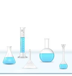 Lab glassware kit vector